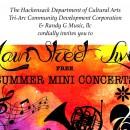 Free Summer Mini Concerts at Main Street Live